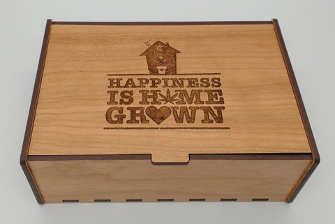 Happiness Is Home Grown Cherry Stash Box