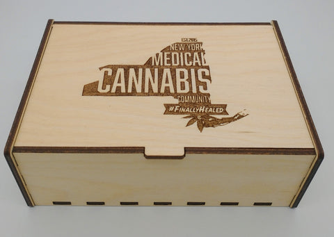 New York Medical Cannabis Community Birch Stash Box