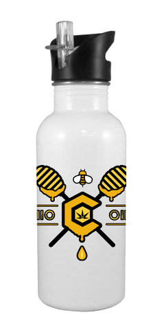 710 OIL Honey 20 oz Aluminum Water Bottle