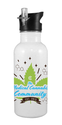 Cannabinoids 20 oz Aluminum Water Bottle