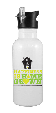 Happiness Is Home Grown 20 oz Aluminum Water Bottle