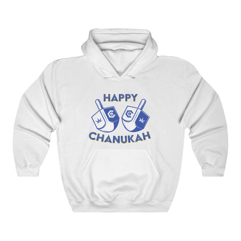 Happy Chanukah Dreidel Unisex Heavy Blend™ Hooded Sweatshirt