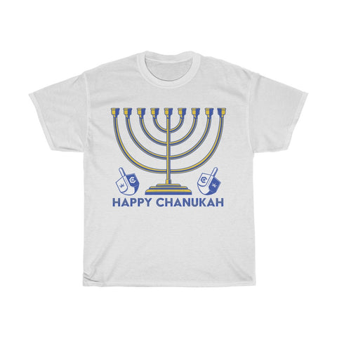 Happy Chanukah Unisex Heavy Cotton Tee