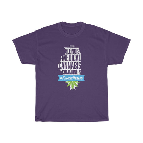 Illinois Medical Cannabis Community Unisex Heavy Cotton Tee