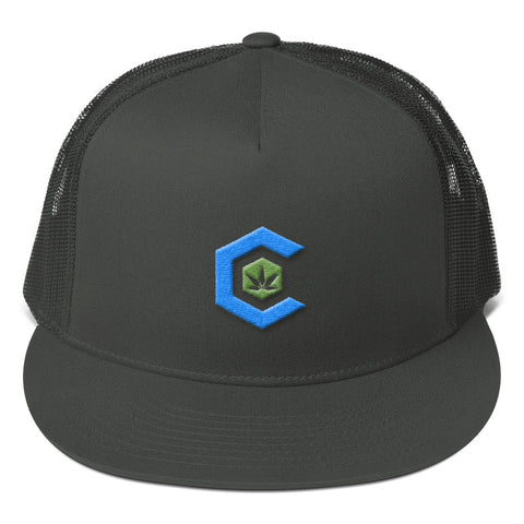 Medical Cannabis Community Icon Mesh Back Snapback Hat