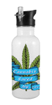 """Cannabis Saved My Life"" 20 oz Aluminum Water Bottle"