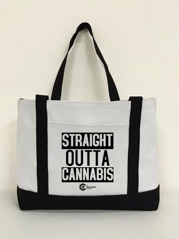 Straight Out of Cannabis Canvas Bag