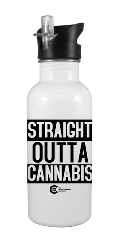 Straight Outta Cannabis 20 oz Aluminum Water Bottle