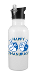 Happy Chanukah 20 oz Aluminum Water Bottle