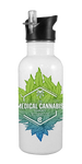 The Medical Cannabis Community 20 oz Aluminum Water Bottle