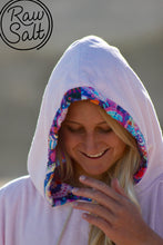 pink hooded towel surf poncho perfect gift for girls and women super soft and ultra absorbent for surfing, swimming or after a shower