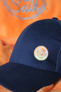 Navy Blue Base Ball cap with embroidered badge caff52989c26