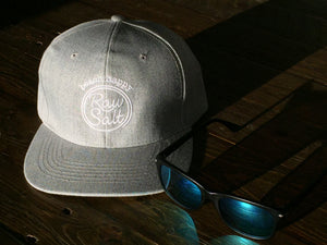 Grey twill Beach Happy baseball cap