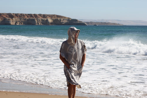 Adult light weight travel Surf Poncho