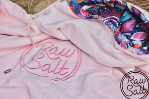 pink surf poncho hooded towel lined hood sun protection for girls beach towel swim towel bath towel spa towel