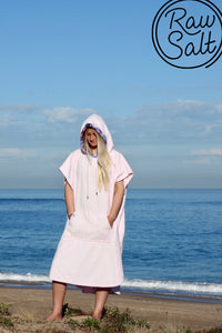 pink surf poncho hooded towel perfect gift for girls hen night bridal shower super soft ultra absorbent