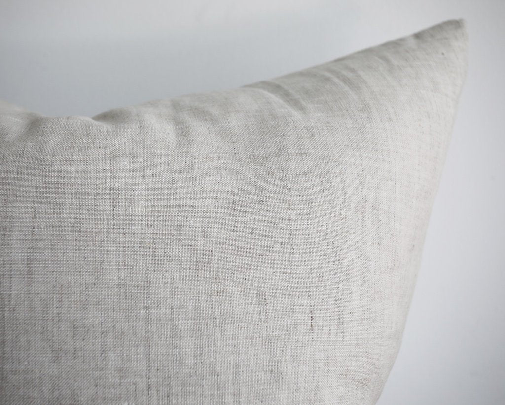 Linen Pillow Cover, Light Ecru Decorative Pillows Stitched By Grace