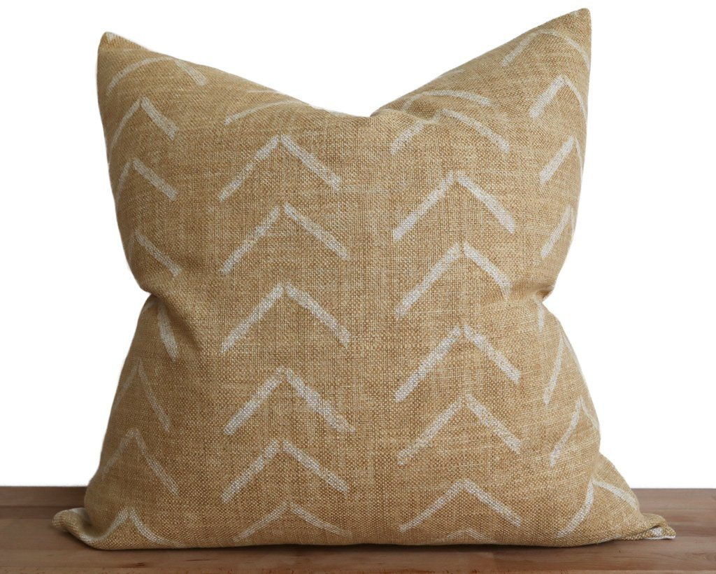 Asha, Dijon Decorative Pillows Stitched By Grace