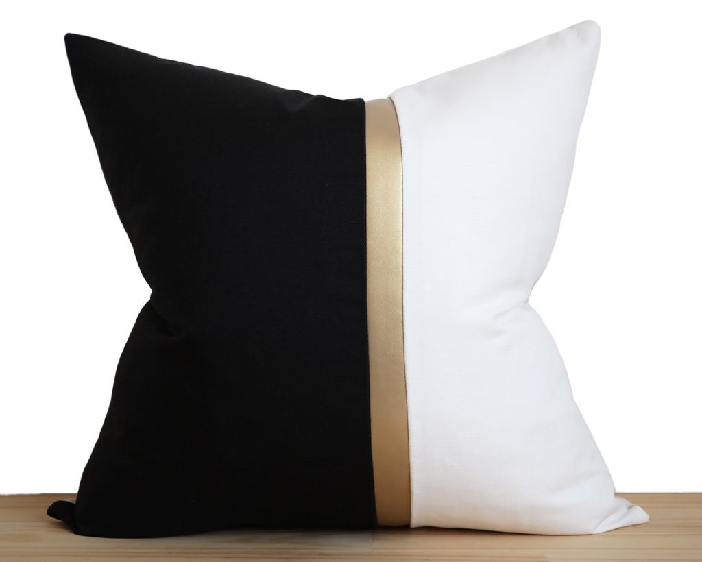 Amsterdam, Gilt Decorative Pillows Stitched By Grace