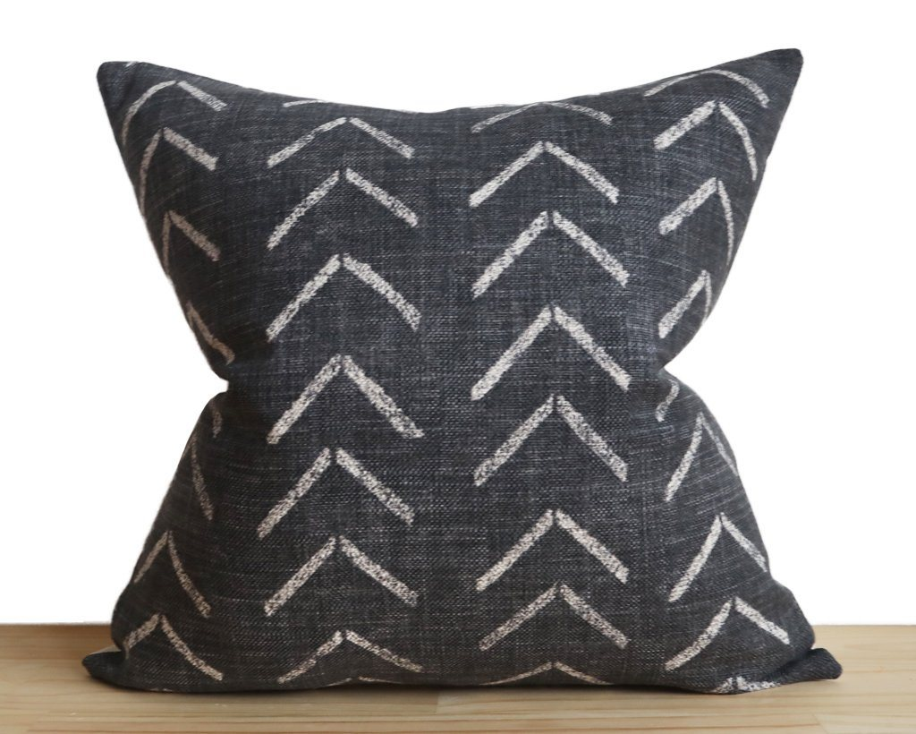 Asha, Onyx Decorative Pillows Stitched By Grace
