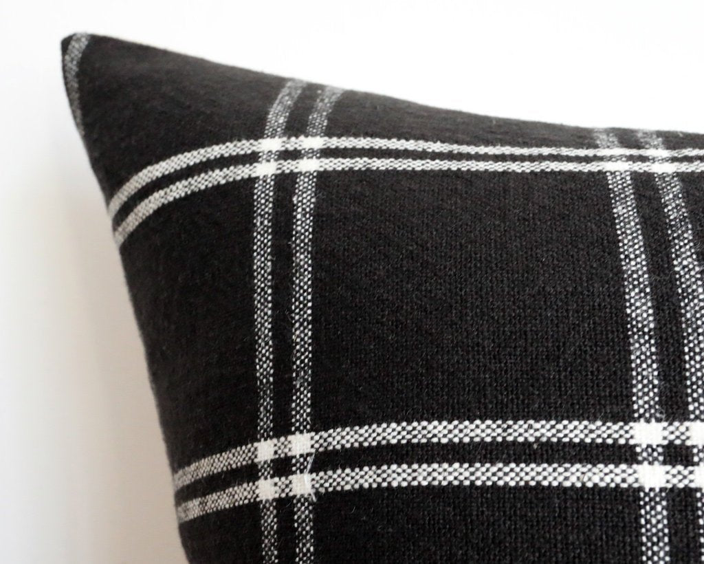 Westmoreland, Black Decorative Pillows Stitched By Grace