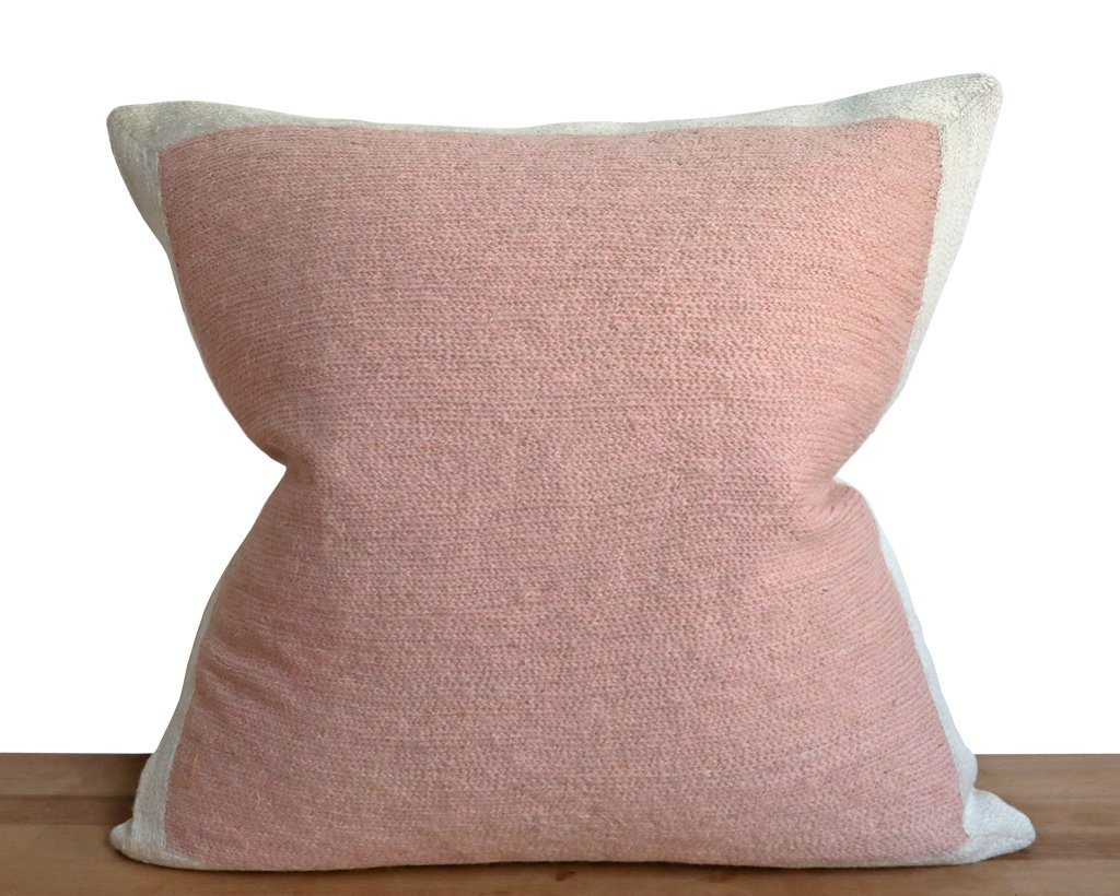 Essex, Color Block Pillow Cover in Rose Quartz Decorative Pillows Coterie Brooklyn
