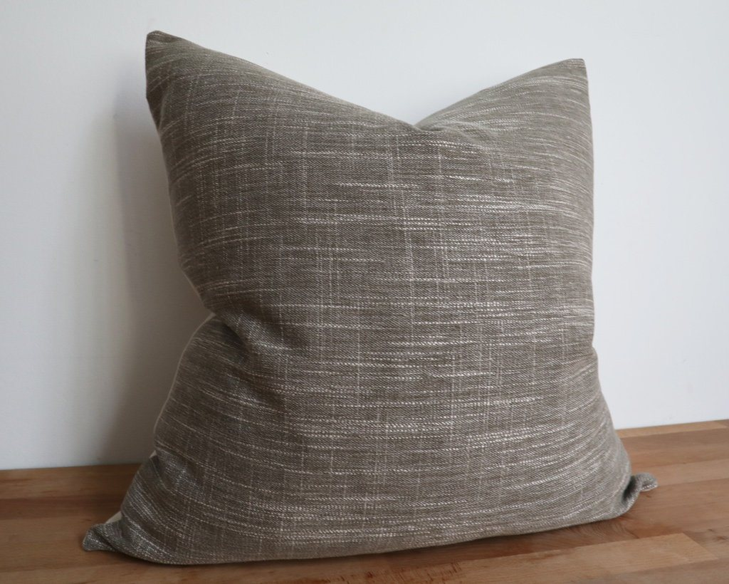 Valencia, Natural Decorative Pillows Stitched By Grace