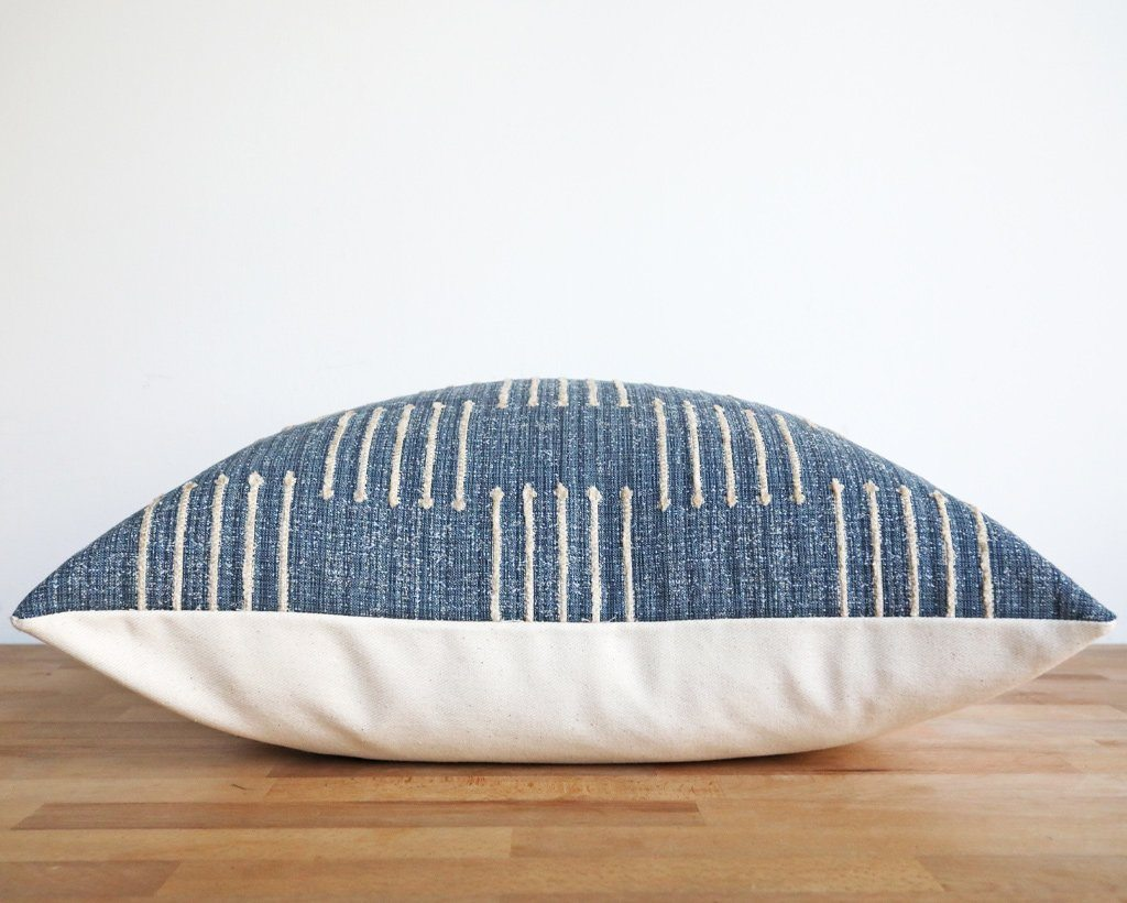 Kingston, Denim Decorative Pillows Stitched By Grace
