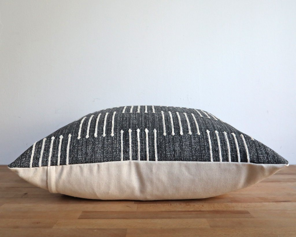 Kingston, Onyx Decorative Pillows Stitched By Grace