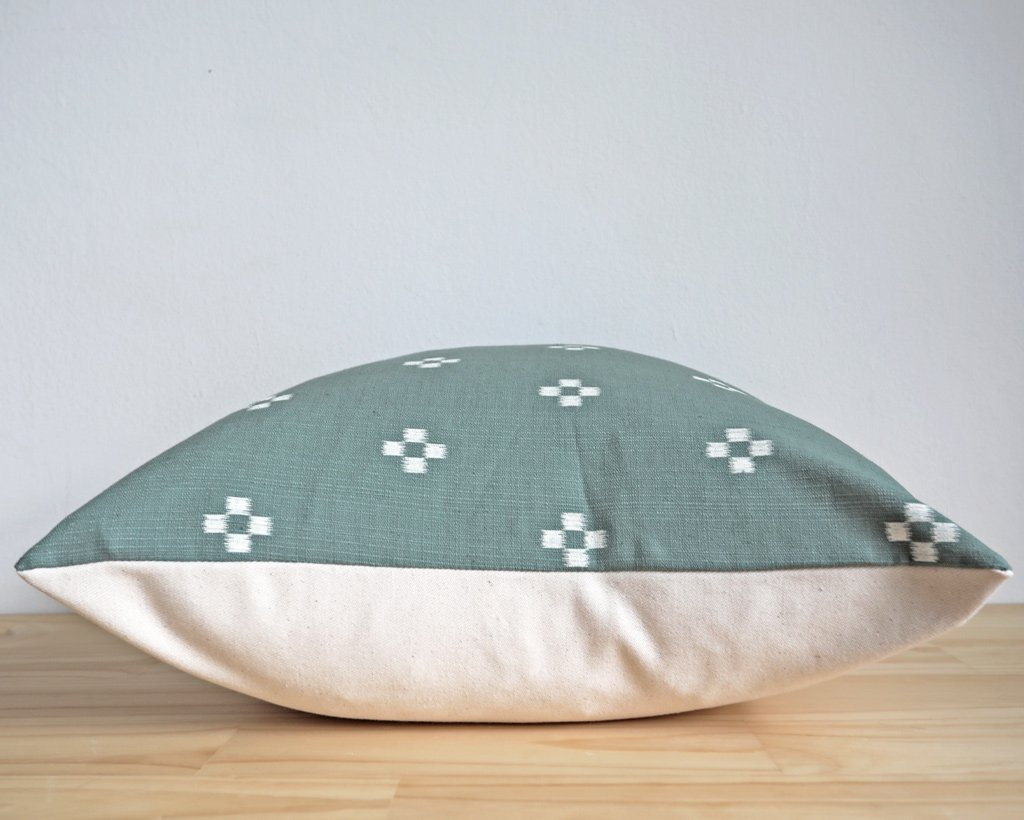 Moxie, Pistachio Decorative Pillows Stitched By Grace