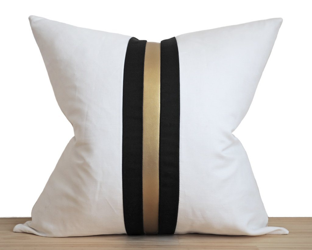Zurich, Gilt Decorative Pillows Stitched By Grace