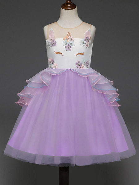 Unicorn Princess Tulle Dress with Headband
