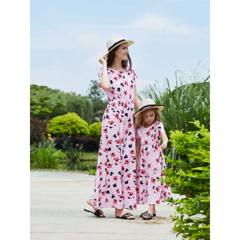 pink mommy and me dresses