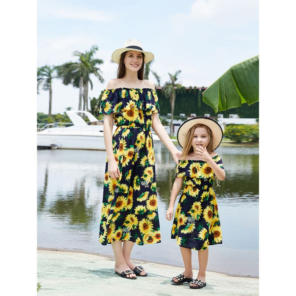 Sunflower Mommy and Me Maxi