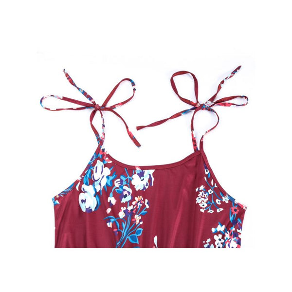 Mommy & Me Burgundy Romper