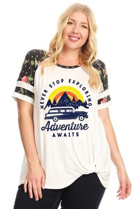 Never Stop Exploring - Adventure Awaits - Plus Sizing