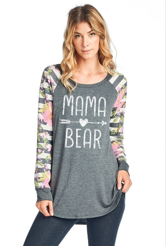 Mama Bear Graphic Long-Sleeve Top