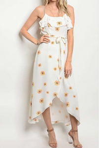 sun dress with sunflowers