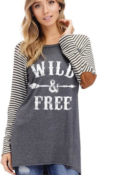 Wild and Free Long Sleeve T