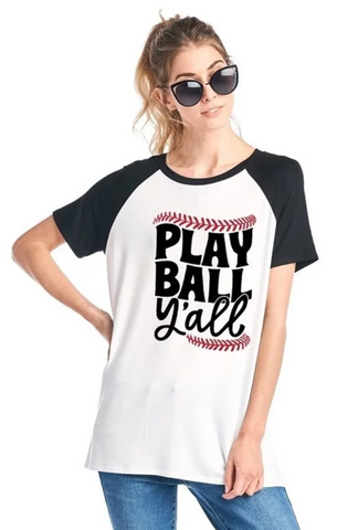 Play Ball Y'all Baseball T