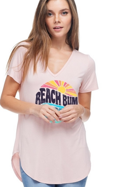 pink blush beach bum shirt