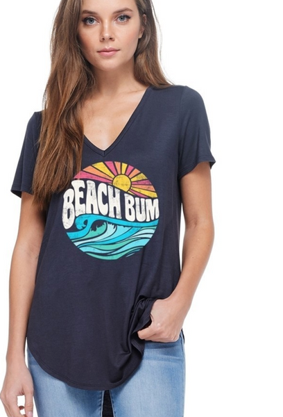 charcoal grey gray beach bum shirt