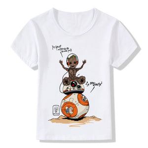 Groot and BB-8 Graphic T