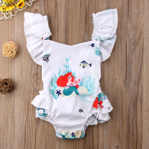 Little Mermaid White Romper