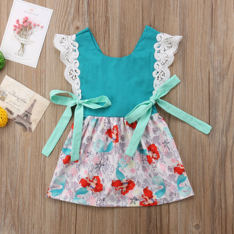 Little Mermaid Bow Dress