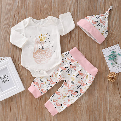 flamingo baby set outfit