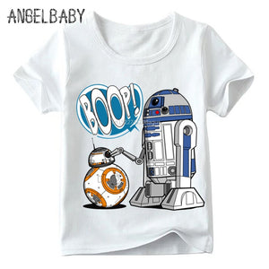 R2-D2 and BB-8 Inspired Droid Graphic T's