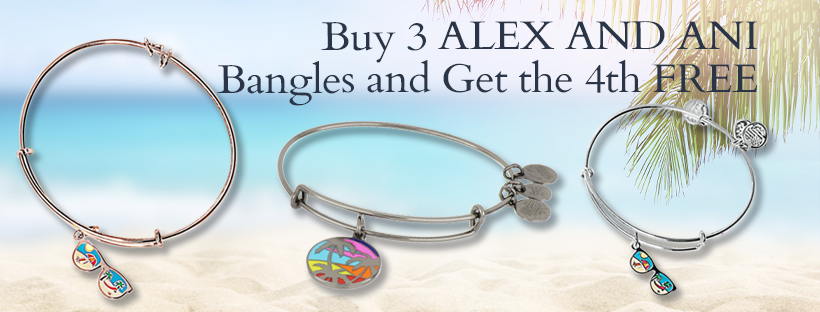 Buy Any 3 ALEX AND ANI Bangles And Get One FREE!