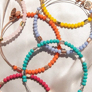 Bracelets with various colors of beads