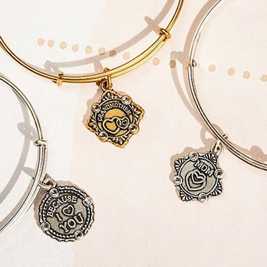Three ALEX AND ANI bracelets